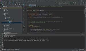 IntelliJ開発画面